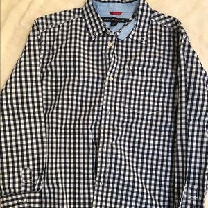 Tommy Hilfiger Boys Blue Paid button down shirt